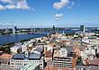 Blick auf die Innenstadt von Riga