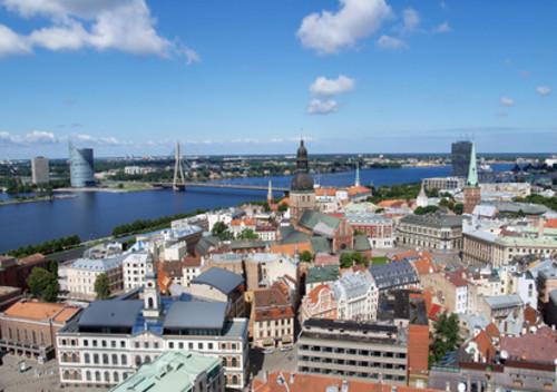 Blick auf Riga in Lettland