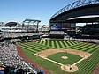 Das Baseball Team der Seattle Mariners bei einem Spiel im Stadion Safeco Field