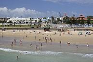 Strandsezene undweit des Campus