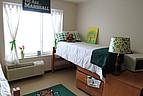 Typisches Zimmer im Studentenwohnheim der Marshall University