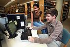 Studenten der Mercer University am Computer