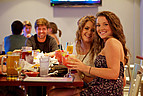 Studenten im Café der Mercer University