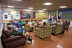 Studenten im Gemeinschaftsraum der Mercer University