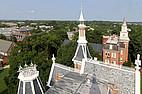 Vogelperspektive auf den Campus der Mercer University