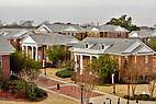 Blick auf mehrere Seminargebäude der Mercer University