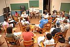 Seminarraum mit Studenten der Mercer University