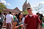 Studenten auf dem Gelände der Mercer University