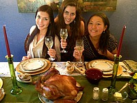 Sharon beim traditionellen Thankgsviging Dinner