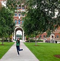 Sharon auf dem OSU Campus