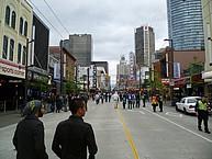 Die Ausgehmeile Granville Street in Vancouver