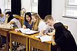 Studenten diskutieren während eines Seminars