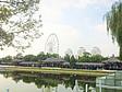 "Blick auf das Riesenrad ""Tianjin Eye"""