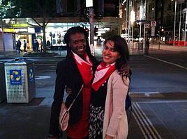 Nubwa mit einer Freundin in Downtown Vancouver