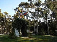 Die Sun God Statue auf dem Campus der UCSD