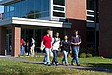 Studenten auf dem Weg zur Vorlesung