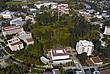 Der Campus der UC Irvine aus Vogelperspektive