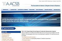 Screenshot der AACSB Homepage