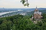 Blick vom Drachfels auf den Rhein und Bonn