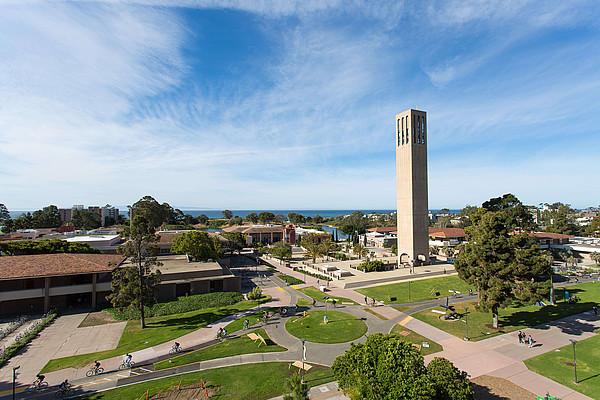 Blick auf den Campus der UC Santa Barbara